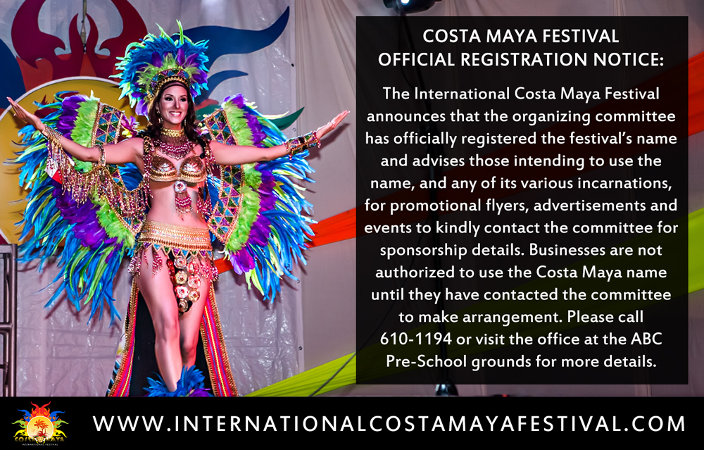 Costa Maya Festival Official Registration Notice